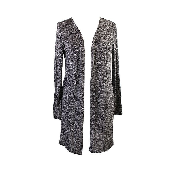 4b4bd025b3c Shop Style   Co. Black Marled Open-Front Cardigan S - Free Shipping ...