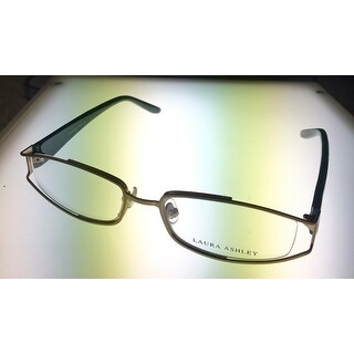 Laura Ashley Womens Opthalmic Eyeglass Rectangle Metal, Helena Sage Loom - Medium