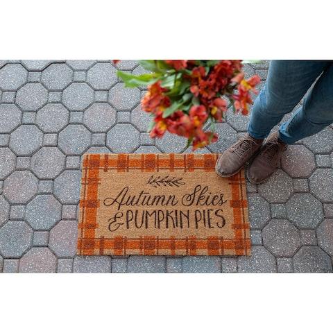 Autumn Skies Coir Doormat
