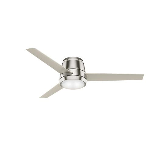 """Casablanca 54"""" Commodus Low Profile Ceiling Fan with LED Light Kit and Wall Control"""