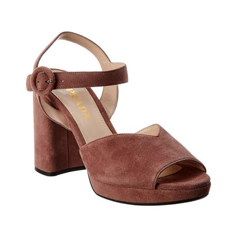 Prada 95 Suede Platform Sandal