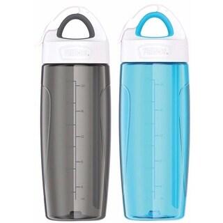 Thermos (2) 24 oz. Eastman Tritan Sport Bottle w/ Covered Straw - Gray/Blue