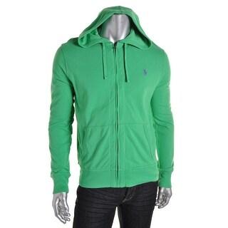 Polo Ralph Lauren Mens Hooded Pique Full Zip Sweater - M