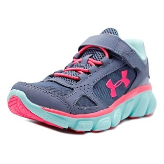 Under Armour GPS Assert V AC Youth Round Toe Leather Gray Running Shoe