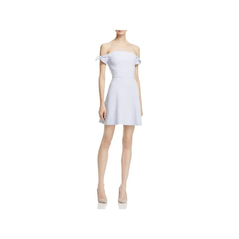 b5db78b750f6 French Connection Womens Special Occasion Dress Crepe Off-The-Shoulder