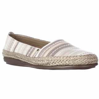 Aerosoles Solitaire Slip-On Espadrille Flats - Natural Combo