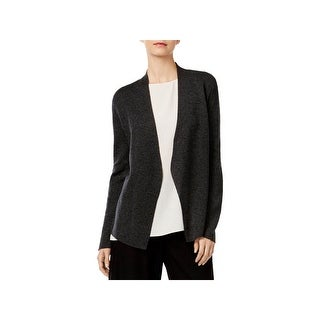 Eileen Fisher Womens Cardigan Sweater Knit Heathered