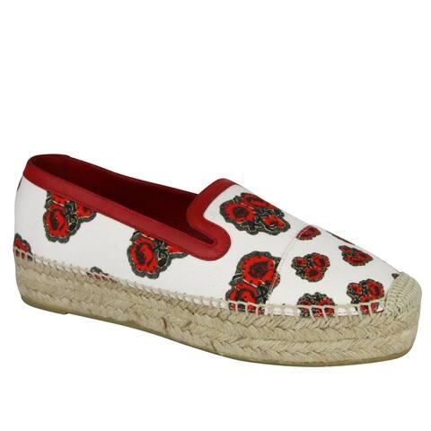 Alexander McQueen Women's Slip On Ivory Canvas Platform Sneaker 462291 9043 (39 EU / 8.5 US)
