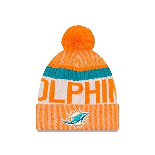 96f4c0e1e Shop New Era Mens Miami Dolphins 2017 Sideline Reverse Team Cold Weather Sport  Knit Hat