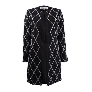 Link to Tahari ASL Women's Embroidered & Embellished Topper Jacket - Black/White Similar Items in Suits & Suit Separates