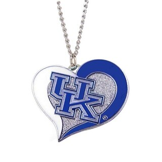 Kentucky Wildcats Swirl Heart Necklace NCAA Charm Gift
