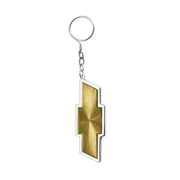 Pilot Automotive Gold/ Silver Chevrolet Logo Key Chain