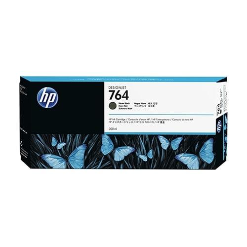 Hewlett Packard 764 300-ml Matte Black DesignJet Ink Cartridge - C1Q16A (Single Pack) Matte Black De