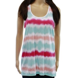 PJ Salvage NEW White Womens Size Medium M Tie-Dye Striped Sleepshirt