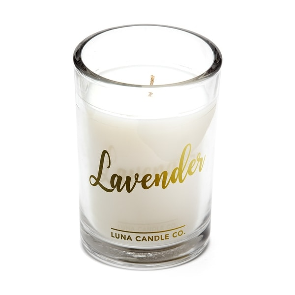 Highly Scented Lavender Jar Candle, Hints of Geranium, Soy Wax 6Oz.
