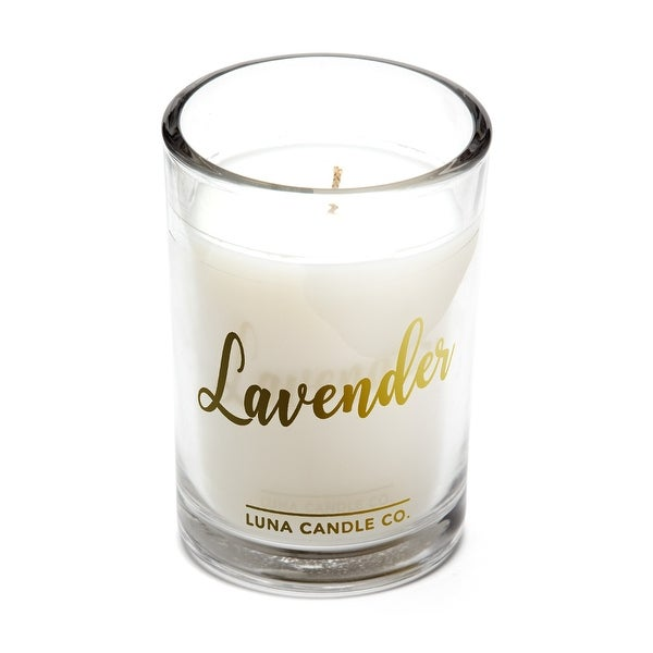 Strong Scented, Lavender Natural Soy Candle, 6 Oz.. Opens flyout.
