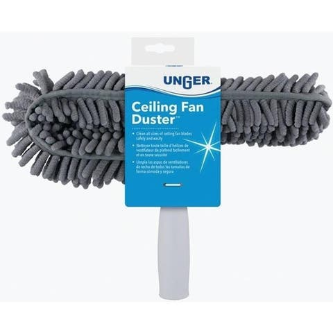 "Unger 972660 Ceiling Fan Duster With Microfiber Head, 11-1/4"" W"