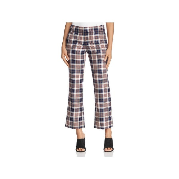 Tory Burch Womens Garrett Dress Pants Plaid Straight Leg