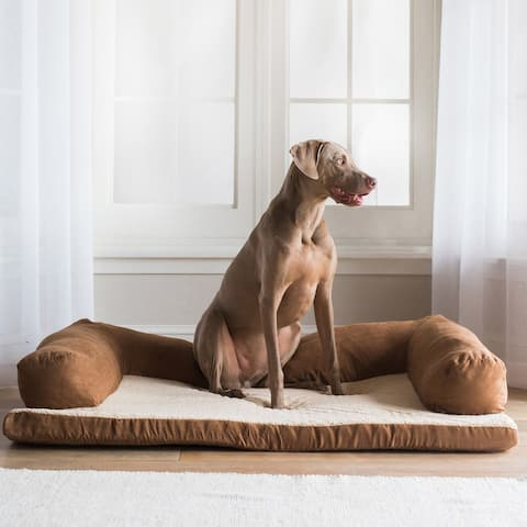 "Aspen Pet 54 X 34 Bolster Orthopedic Dog Bed - 54"" x 34"""