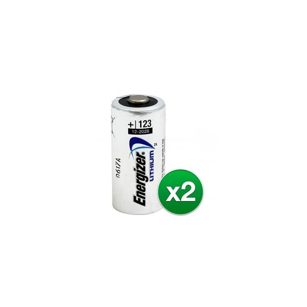 Replacement Battery for Energizer CR123A (2-Pack) Replacement Battery