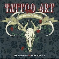 Lark Books-Tattoo Art Coloring Book