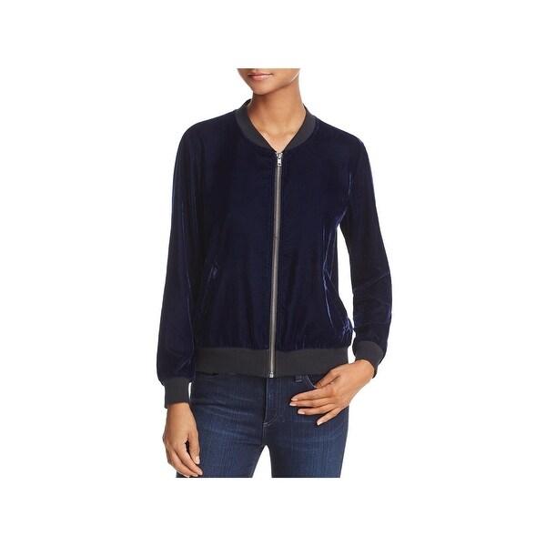 4c3a05e2204 Shop Ella Moss Womens Bomber Jacket Velvet Long Sleeves - On Sale ...