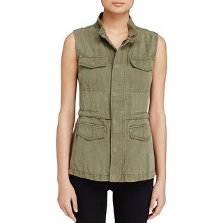 Sanctuary Womens Casual Vest Tencel Solid - xs