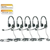 Jabra Voice 550 Duo MS Stereo Corded Headset w/ Noise Reduction System (5 Pack)