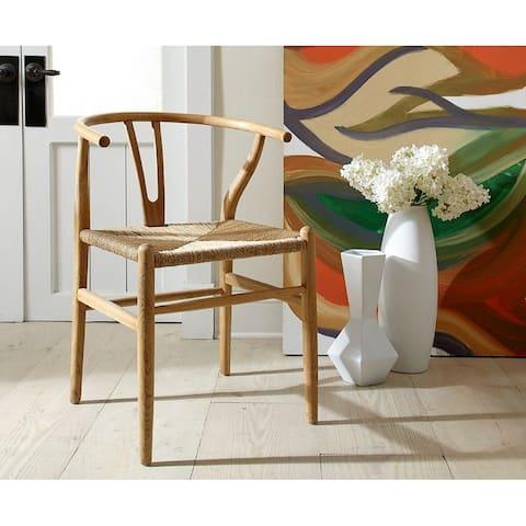 Wish-bone Mid-Century Modern Steam Bent Oak Side Dining Chair