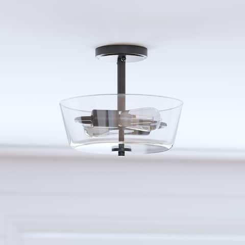 Prominence Home Viktoria, Semi-Flushmount Light, Espresso