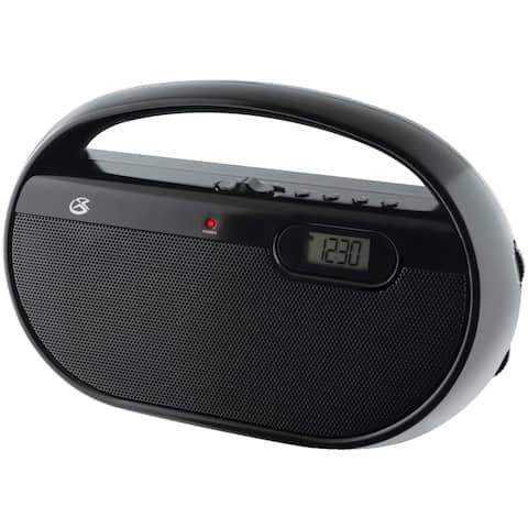 GPX RG7818B GPX R602B Portable AM/FM Radio w/ Digital Clock & Line Input