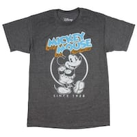 Men's Mickey Mouse SInce 1928 Distressed Vintage Character T-Shirt