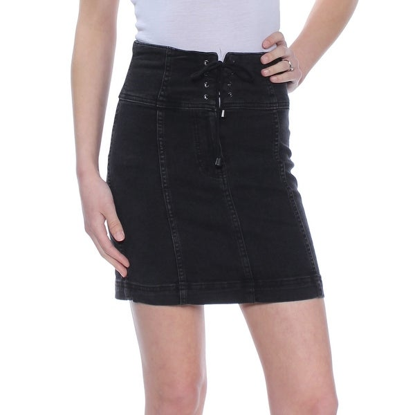 5b4e2185b08 Shop FREE PEOPLE Womens Black Corset Mini Skirt Size: 0 - Free Shipping On  Orders Over $45 - Overstock - 27764514