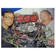 Signed Winston Drag Crew Chiefs Virgil Hartman Ray Strasser 1991 Pro Set Racing Card signed by Vir