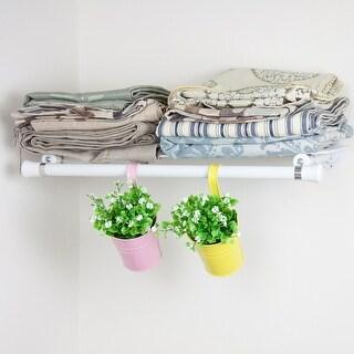 Hermosa Home Decorative Steel Single Shelf Organizer with Hanger - White