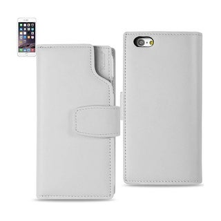Reiko Iphone 6 Genuine Leather Wallet Case With Open Thumb Cut In Ivory