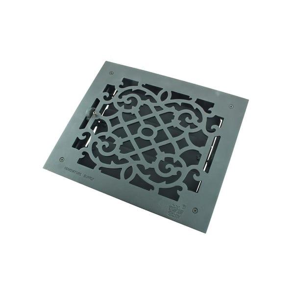 Black Floor Register Victorian Heat Vent Louver Cast Duct 10 X 12 Inch Overstock 13301942