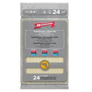 "Arrow BSS6-4 Superpower Slow Set Glue Sticks, 4"""