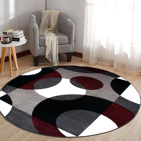 Modern Multicolored Geometric Area Rug