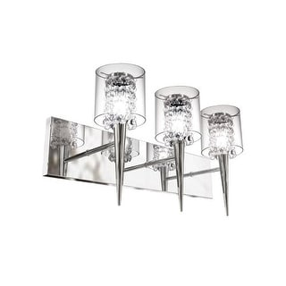 Bazz Lighting M3823CB Topaz Three-Light Medium Vanity Strip with Glass Crystals