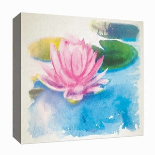 "PTM Images 9-126828  PTM Canvas Collection 12"" x 12"" - ""Abstract"" Giclee Lotuses Art Print on Canvas"