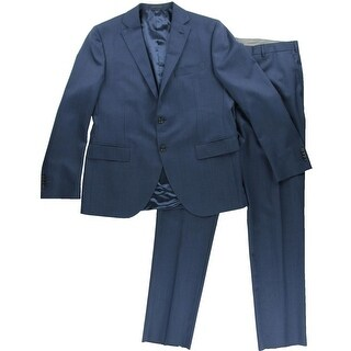 Lubiam Mens Wool 2PC Two-Button Suit - 54r