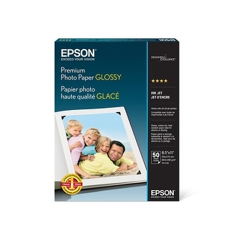 Epson Premium Photo Paper Glossy (8.5X11 Inches, 50 Sheets) (S041667)