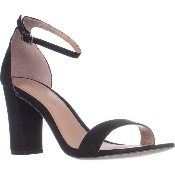 madden girl Beella Ankle Strap Dress Sandals, Black