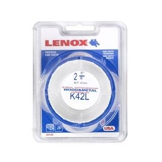"""Lenox 1771988 Bi Metal Hole Saw, White, 2-5/8 """" Dia 1-1/2 """" Depth Cut"""