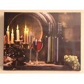 """LED Lighted Flickering Candles and Wine Canvas Wall Art 11.75"""" x 15.75"""" - Thumbnail 0"""