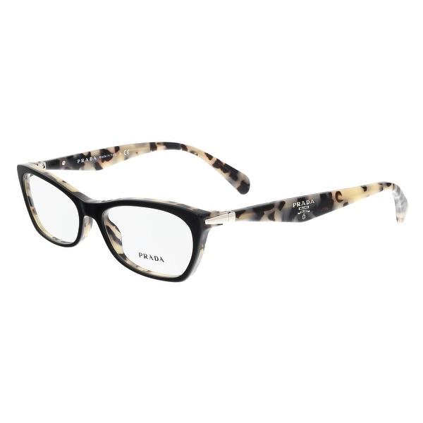 435cfd609f8 Prada PR 15PV ROK1O1 Top Black White Havana Rectangle Optical Frames - 53-16