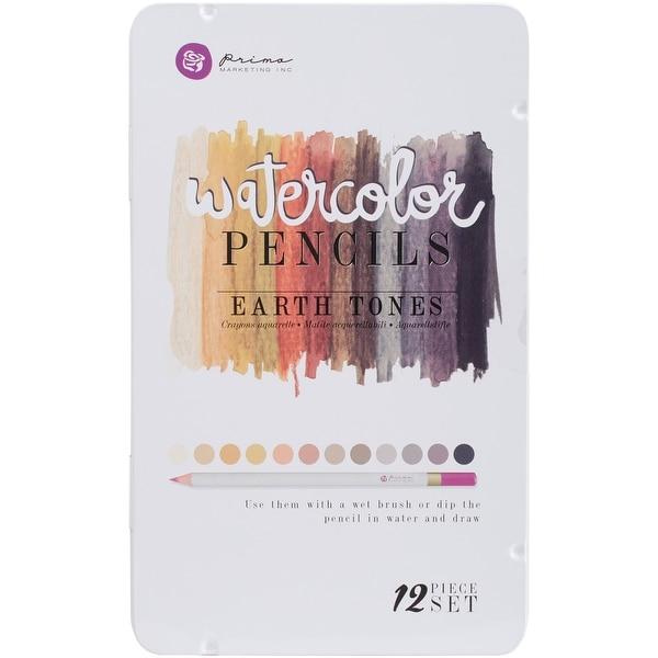 Prima Marketing Mixed Media Watercolor Pencils 12/Pkg-Earth Tones