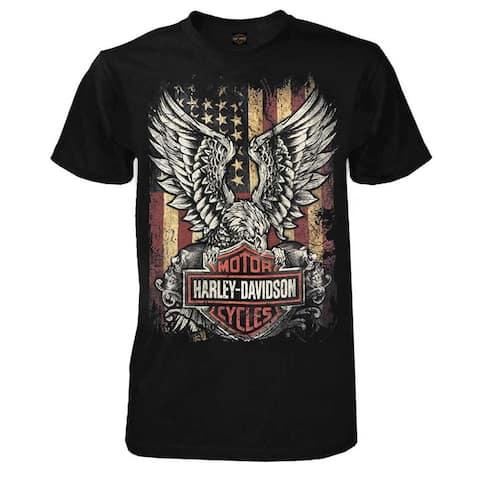 Harley-Davidson Men's Custom Freedom Short Sleeve Crew Neck Tee - Black