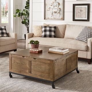 Link to Shay Square Storage Trunk Cocktail Table with Caster Wheels by iNSPIRE Q Artisan Similar Items in Living Room Furniture